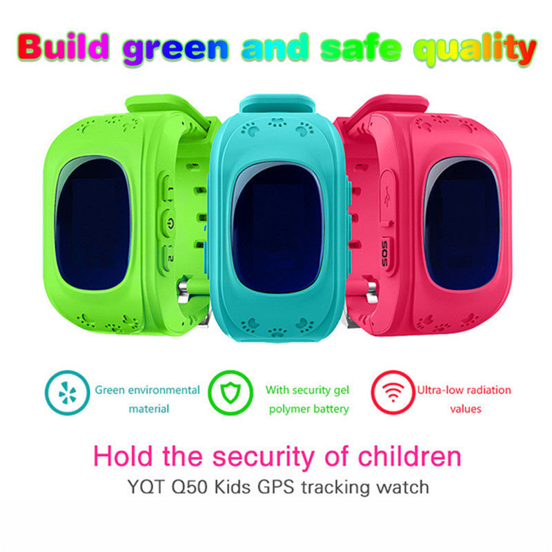 Free Shipping Q50 GPS GSM GPRS SOS Children Anti Lost Call Location Finder Locator Tracker Smartwatch