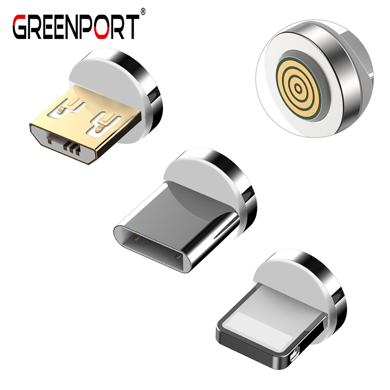 GREENPORT 12th Magnetic Plug for iphone Type C Micro usb Mobile Phone Cable Charging for xiaomi redmi Mobile Phone Charger Plug