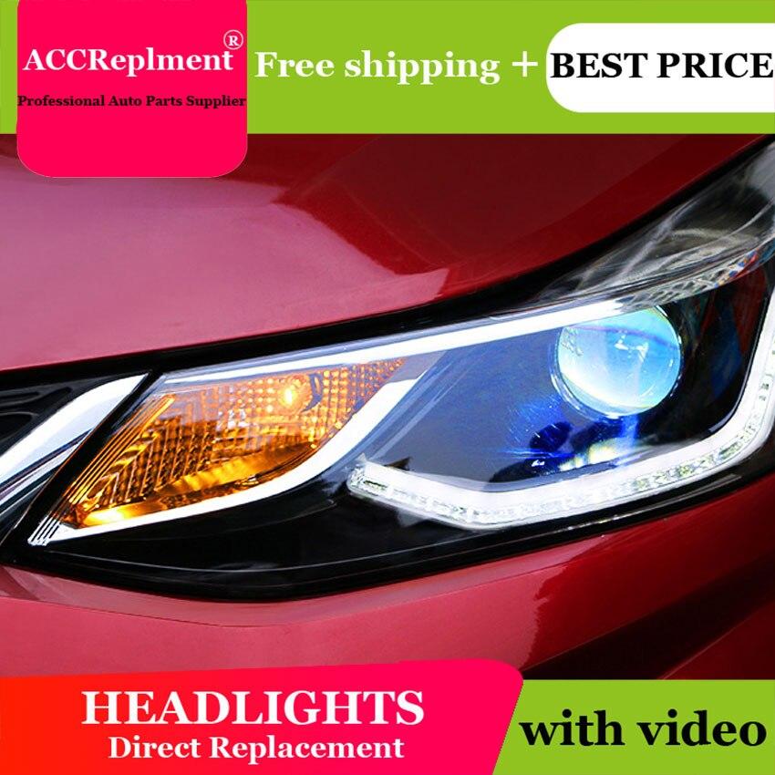 Auto Lighting Style LED Head Lamp for Cruze led headlights 2017 2018 signal tube led H7