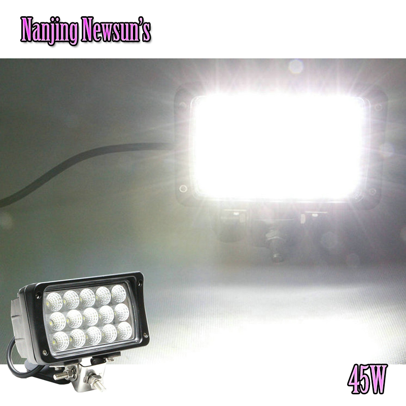 45W 15*3W Waterproof Offroad Car Led Work Light Lamp With High Intensity Epistar Leds 45W Working Light For Motorcycle Boat SUV 4pcs lot 200w led work light 20pcs 10w high intensity cree leds 200w led work light led lamp