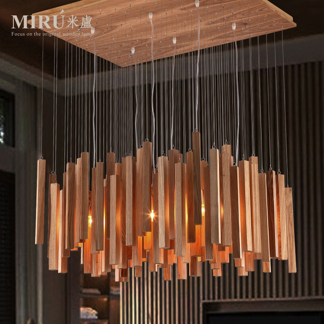 rectangular wood chandelier extra large milutinovic lighting designer art wood dining room clubhouse rectangular chandelier lamp