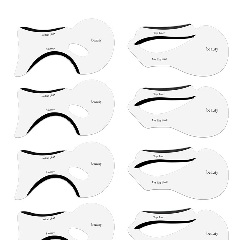 RORASA 10PCS Eyeliner Stencil Makeup Cat Liner Pro New Design Makeup Tool Eyeliner Eyeshadow Stencils Multifunction Template