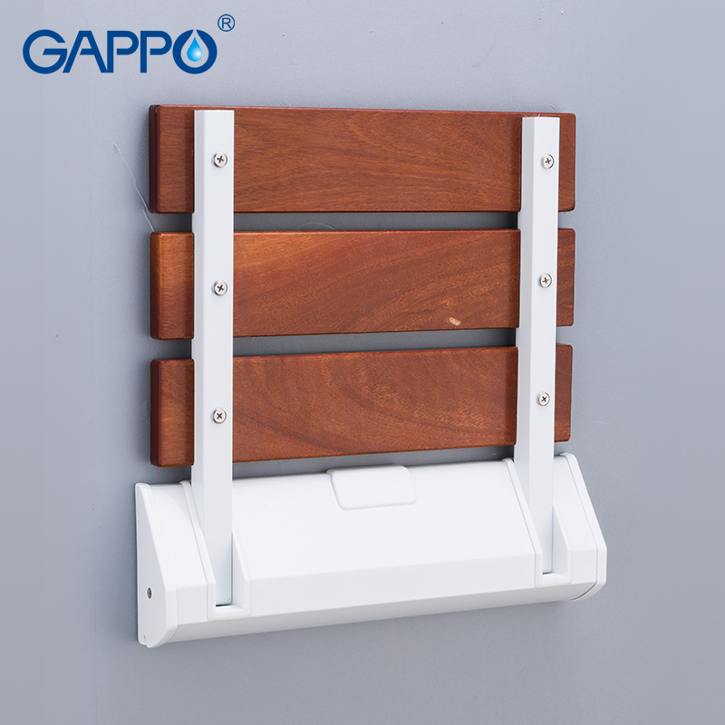GAPPO Wall Mounted Shower Seat folding chair for children toilet folding shower chairs Bath shower Stool