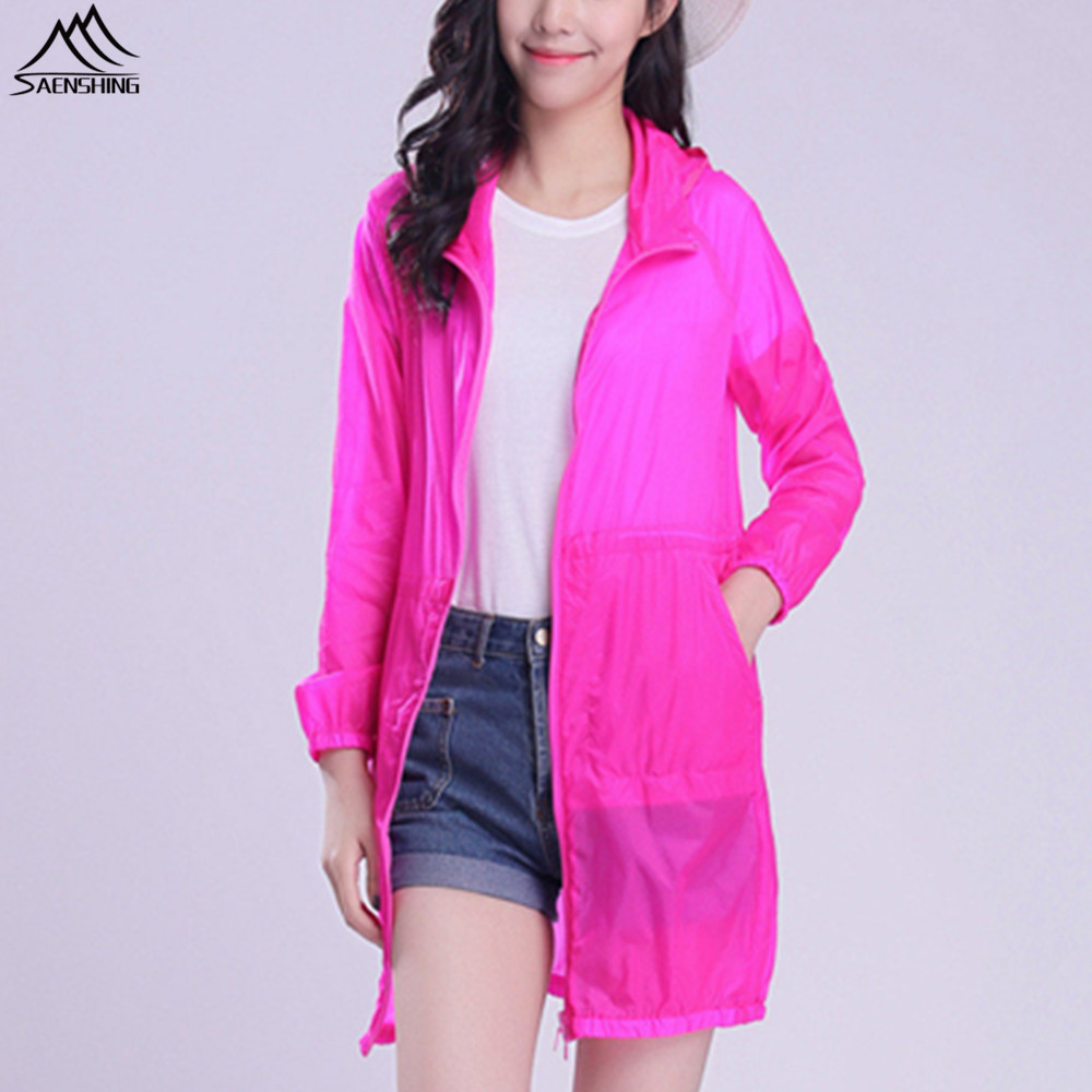 Aliexpress.com : Buy SAENSHING Long Waterproof jacket women ...