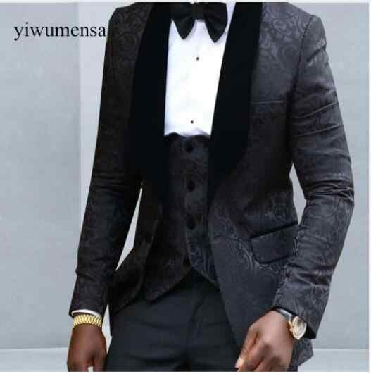 Yiwumensa мужской костюм slim fit Royal Blue Мужские костюмы с Штаны шалевыми лацканами Нарядные Костюмы для свадьбы для человека пользовательских выпускного вечера печати Блейзер