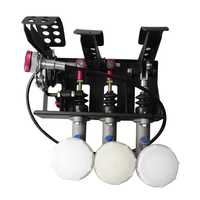 MOFE racing pedal box 0.75 brake Master Cylinder Hydraulic Pedal Box Kit Clutch Brake Bias Floor Mounted