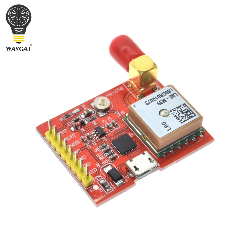 WAVGAT GPS MODULE for Raspberry Pi L80 Integrated with Patch Antenna MT3339 Chip with Antenna