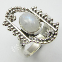 Silver RAINBOW MOONSTONE Collectible Ring Size 6 JEWELRY