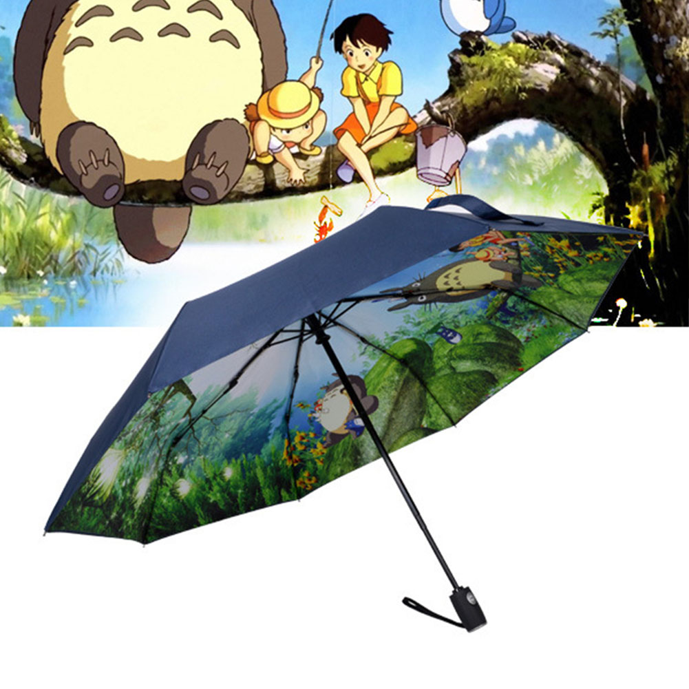 216b1625190c4 Black Ghibli Totoro Umbrella Women Anime Sun Umbrella Parasol Female  Plegable Sombrillas Paraguas Guarda Chuva Totoro Parapluie-in Umbrellas  from Home ...