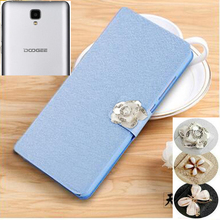 High Quality Luxury PU Leather Flip Case For Doogee X10 Smartphone Wallet Stand Cover With Card Holder