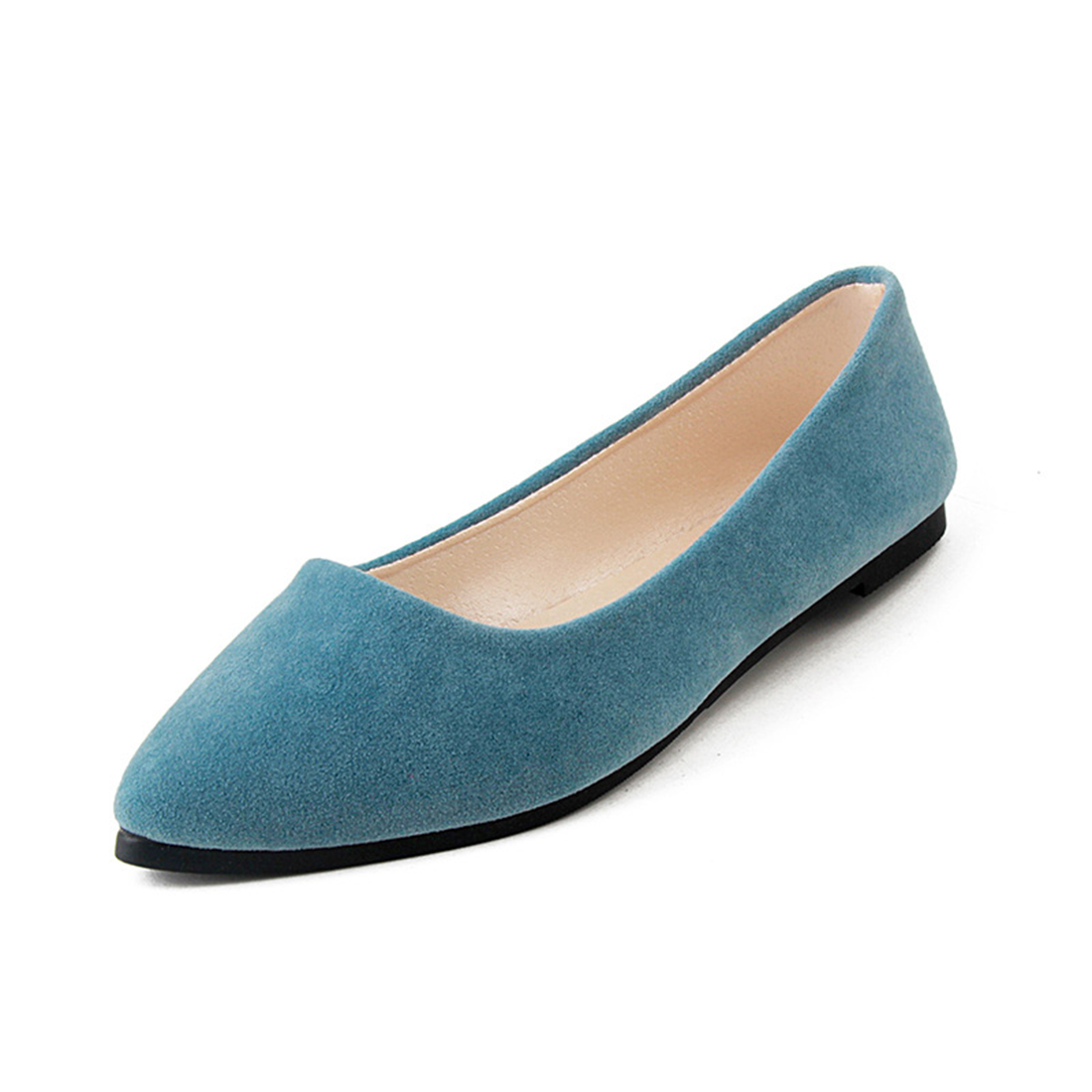 2017 Spring New Women Solid Slip On Casual Shoes Comfortable Pointed Toe Female Flat Shoes Woman Loafers Plus Size 40 women flats slip on casual shoes 2017 summer fashion new comfortable flock pointed toe flat shoes woman work loafers plus size