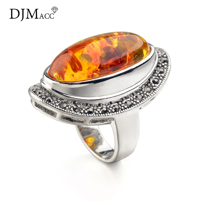 DJMACC AAA Quality Fashion Jewelry Luxury Yellow Resin Rings For Women Gril Christmas Gift (DJ0784)