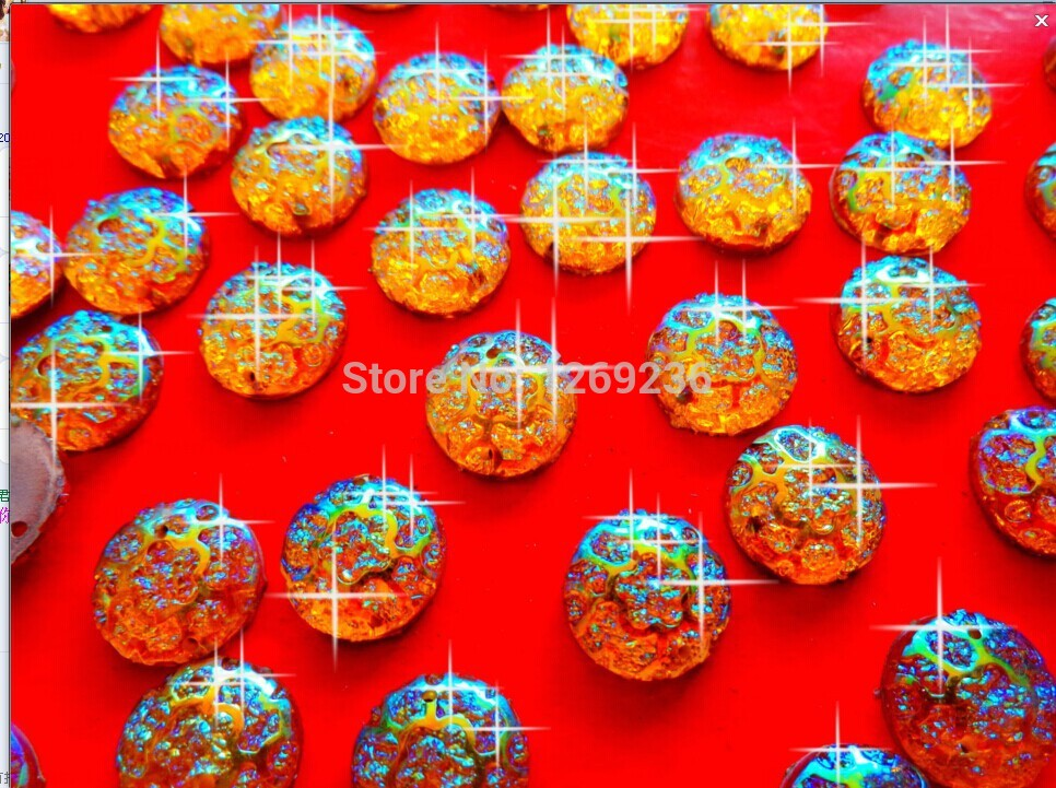 Free shipping Round Golden AB colour 12mm sew on Resin crystal Rhinestones gemstones Accessores Beads 150pcs/lot
