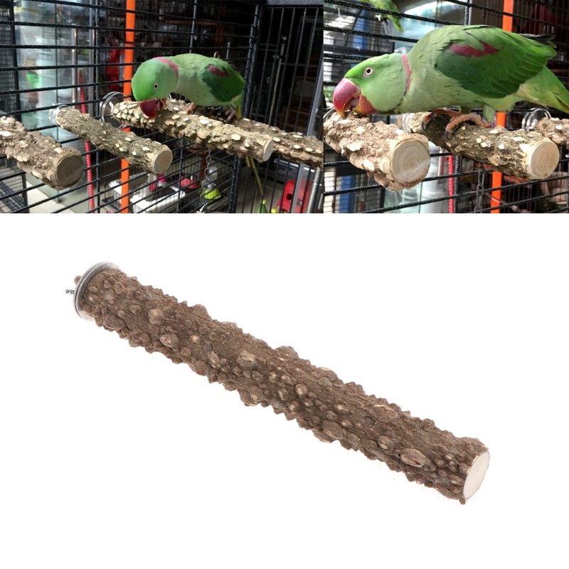 1pc Parrot Quartz Stand Feet Safety Perch for Parrot Birds Toy Wood Grinding Stones Perch Paw Grinding Toy for Bird Parrot Macaw African Grey Budgie Parakeet Cockatiel Conure Lovebird Finch Cage Shelf