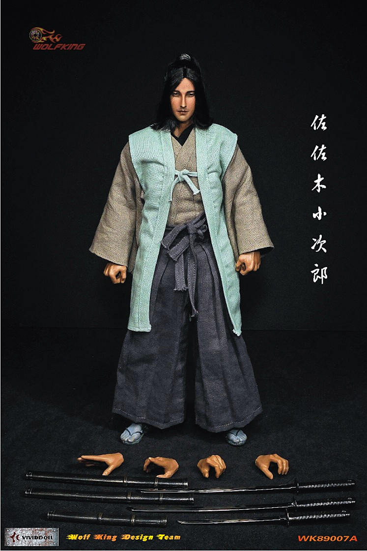 WOLFKING: 1/6 Soldier Japanese Samurai Sasaki Kojiro WK89007A Spot Mail Action Figure Model фигурка planet of the apes action figure classic gorilla soldier 2 pack 18 см