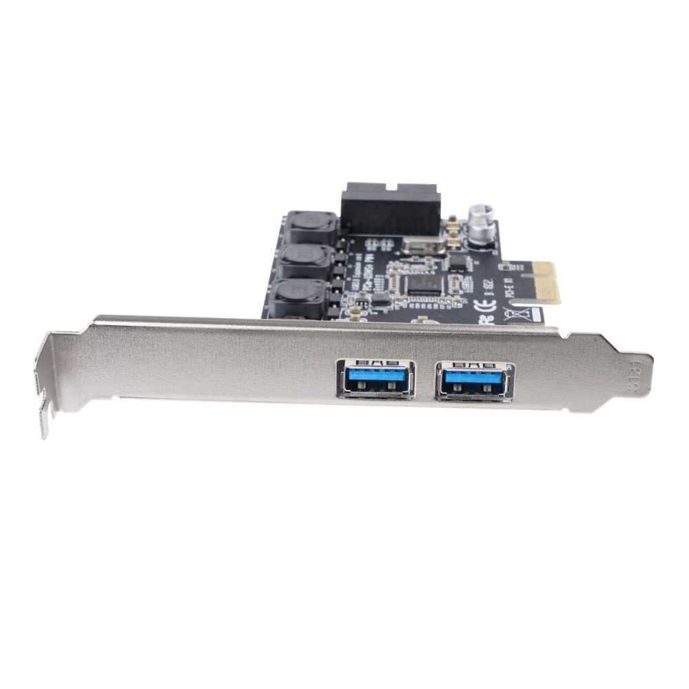 Карта расширения ORICO USB 3,0 PCIE Express, 2 порта, USB 3,0, PCI-e, адаптер PCIe с 19-контактным передним интерфейсом, скорость 5 Гбит/с для ПК Win10