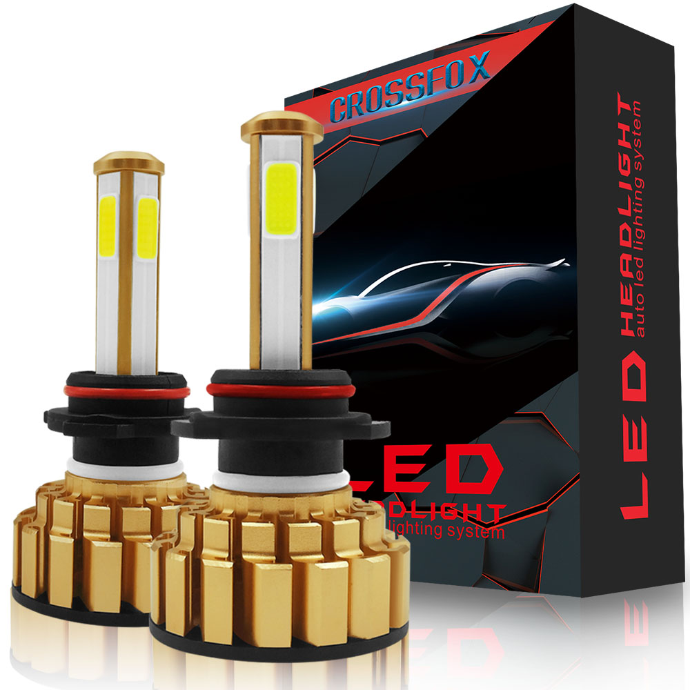 Car Lights Bulbs LED H7 H4 H11 12V 6000K 8000LM LED H8 H9 9003 9005 9006 HB2 HB3 HB4 COB Chips Fog Lamps Automobile Headlights