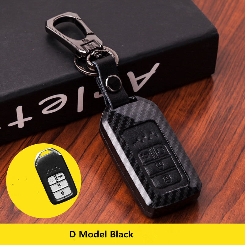 For Honda Civic Accord Cr-v Pilot Crv 2015 2016 2017 2018 Holder Shell Protector 5 Button Leather Remote Car Key Case Fob Cover new car remote key fob cover case holder protect for honda 2016 2017 crv pilot accord civic fit freed keyless entry car styling