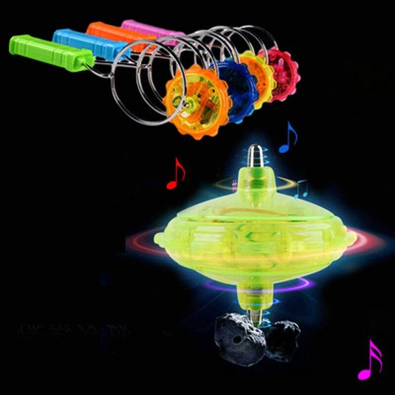 Classic Toys Colorful Flashing Gyro Gyroscope Magic Track Yo-yo Led Gyro Toys For Kid Adult Best Gift Spinning Tops