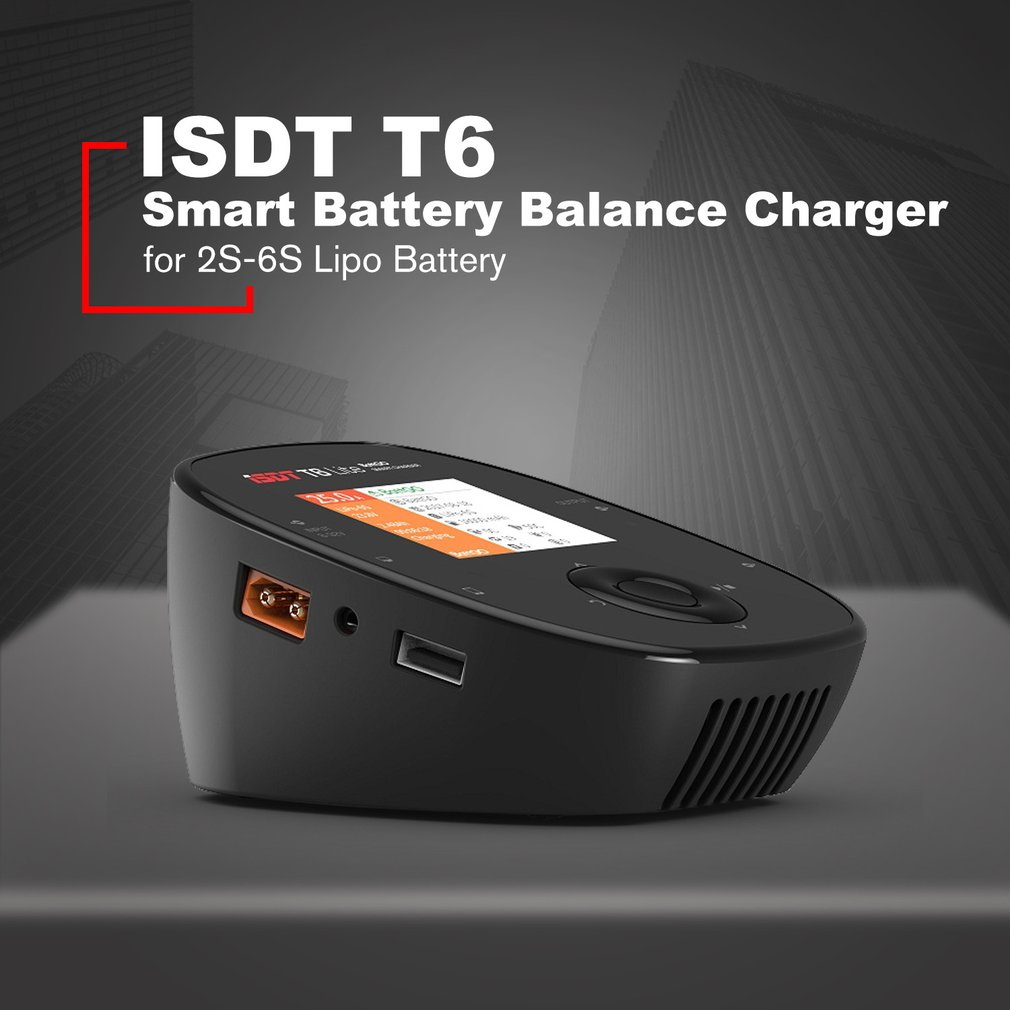 ISDT T6 Lite 600W 25A Intelligent Smart Battery Balance Charger Discharger for 2S-6S Lipo Battery for RC DroneISDT T6 Lite 600W 25A Intelligent Smart Battery Balance Charger Discharger for 2S-6S Lipo Battery for RC Drone