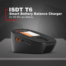 ISDT T6 Lite 600W 25A Intelligent Smart Battery Balance Charger Discharger for 2S-6S Lipo Battery for RC Drone