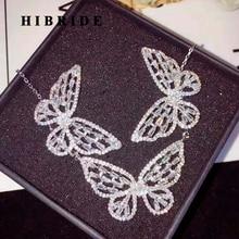 Hybride ensembles de bijoux avec papillons, accessoires de luxe, collier, boucle doreille, pour femmes, tendance, N 753