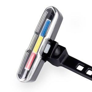Luz traseira da bicicleta cauda lâmpada led usb recarregável aviso lanterna de segurança vertical horizontal montagem dupla tri cores