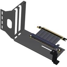 Suporte vertical do quadro de transferência do suporte da placa de vídeo dos gráficos de pcie 3.0 vga com pci e 3.0x16 cabo estendido gtx1080ti