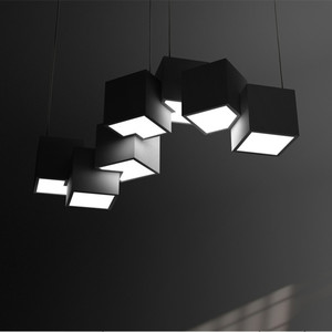 Image 3 - Postmodern Magic Cube Design Led Pendant Light Creative Art Gallery Dinner Living Room Led Hanging Lighting Fixtures