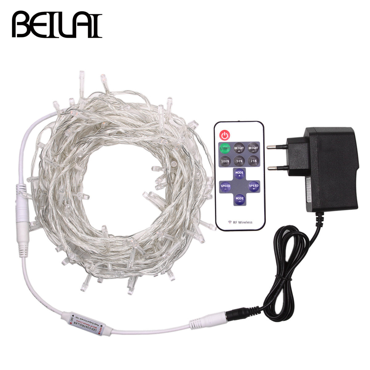 DC 12V LED String Lights 10M 20M Waterproof Garland Fairy LED Holiday Light Strip Christmas Decoration and 1A Power and Remote