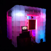 Exquisite lawn tent inflatable photo booth,digital camera room background/workshop nicely led light for outdoor and indoor party