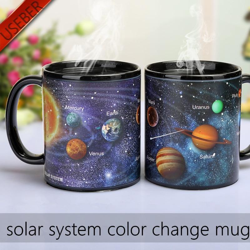 Solar System Color Changing Mug Galaxy Color Change Mugs Heat Sensitive Sublimation Coffee Tea Colour change Cups Magic Mugs 2
