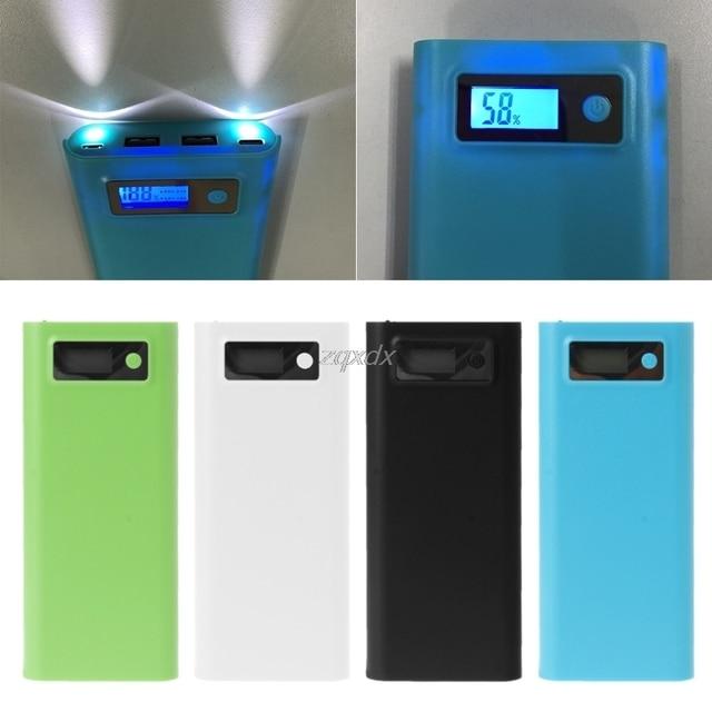 USB הכפול 8x18650 סוללה DIY מחזיק LCD תצוגת כוח בנק מקרה תיבת עבור iphone