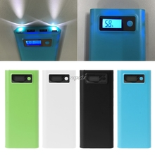 Двойной USB 8x18650 аккумулятор DIY держатель ЖК дисплей Корпус внешнего аккумулятора для iphone