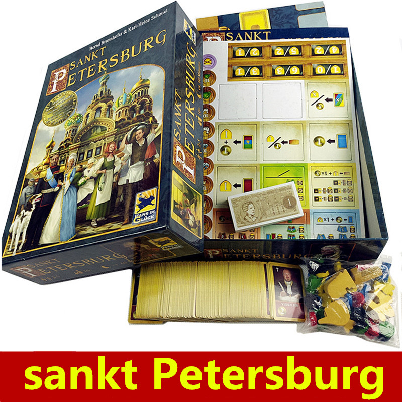 Saint Petersburg Board Game Cards Game 2-5 Players Family toys Game For Children With Parents indoor games saint petersburg for visitors