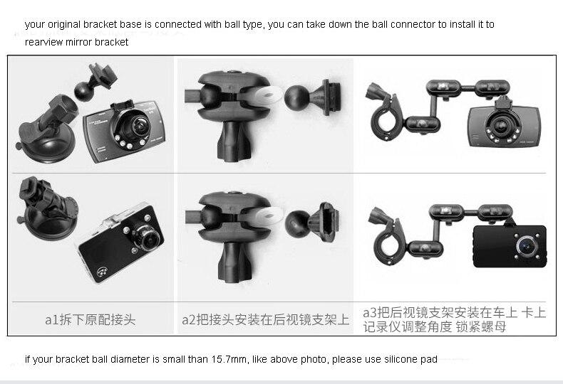 lowest price DVR holder for car dvr mounts rearview mirror dvr holder car dash camera holder for PAPAGO xiaomi dvr holder 1pc