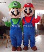 Kırmızı/yeşil Süper Mario karikatür maskot kostümleri parti doğum günü hediyesi Cadılar Bayramı Fantezi Elbise Yetişkin Boyut custom made ücretsiz kargo