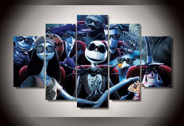 framed printed nightmare before christmas painting childrens room decor print picture canvas decoration free shipping
