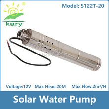 3inch Dc 12v lift 20m 2000L H submersible solar water pump for