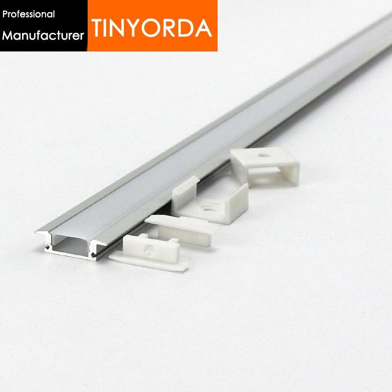 Tinyorda10Pcs (2M Length) Led Alu Profile  Led Channel Profil For 12mm LED Strip Light [Professional Manufacturer]TAJ2407