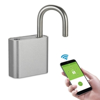 Wireless Padlock Bluetooth Smart Lock Keyless Remote Control Locker Metal Design Wireless App Control Padlock for AndroidiOS