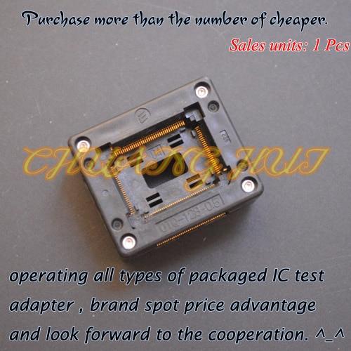 OTQ-128-0.5-04 ic test socket TQFP128 QFP128 LQFP128 Socket imports of ic test seat otq 100 0 65 03 burning qfp100 adapter conversion