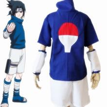 Наруто ниндзя Саске Учиха 2nd Итачи косплей костюм синий комплект + номер трека
