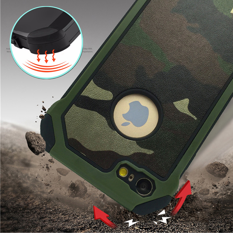 Army Camo Camouflage Pattern Celular For Apple iPhone 5 5S 6 6S Plus 7 8 Plus կոշտ պլաստիկ փափուկ TPU զենք ու զրահ Case X XS XR Xs Max- ով