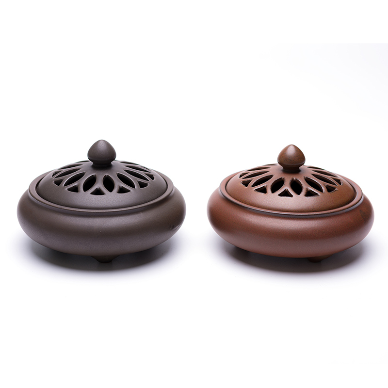 PINNY Ancient Pottery Incense Burner Ceramic Coil Censer Zen Room Decoration Meditation Stick Incense Holder Buddha Decor in Incense Incense Burners from Home Garden