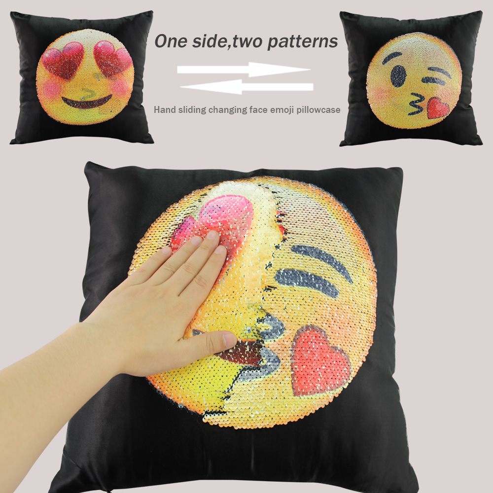 changing face emoji pillows. Black Bedroom Furniture Sets. Home Design Ideas