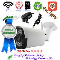 Pequeño Metal impermeable cámara IP inalámbrica IR 128G tarjeta SD reinicio al aire libre XM WIFI IPC 1080P cámara de seguridad P2P alarma de movimiento