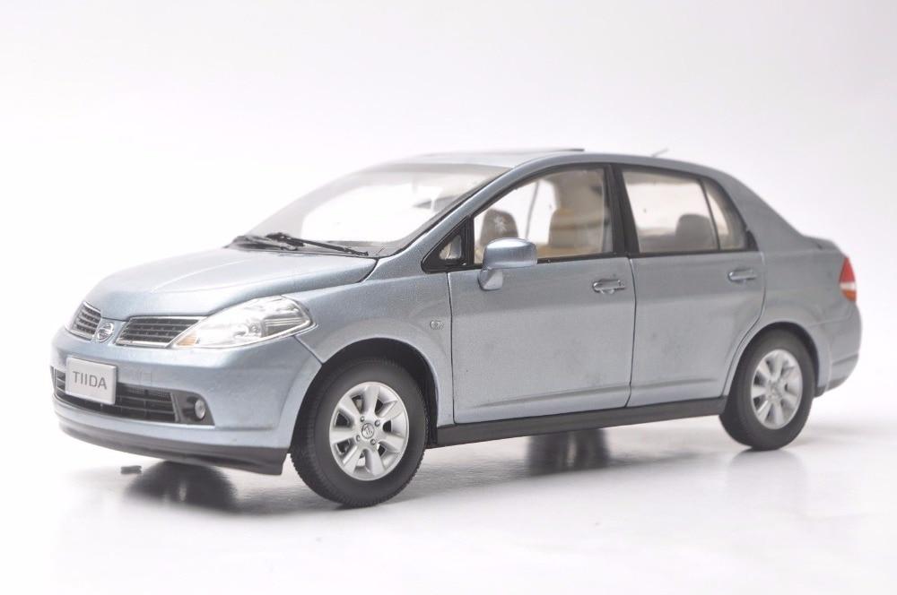 1:18 Diecast Model For Nissan Tiida Versa 2008 Sedan Rare Alloy Toy Car Miniature Collection Gift Pulsar