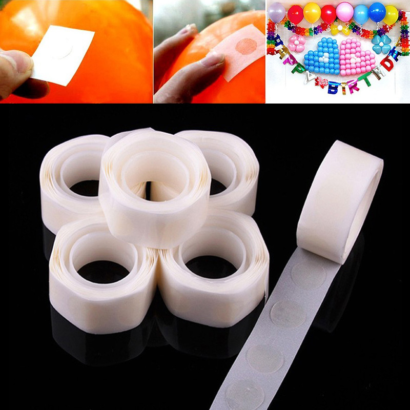 100 Points Balloon Attachment Glue Dot Attach Balloons To Ceiling Or Wall Balloon Stickers Birthday Party Wedding Decoration
