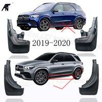 4x z przodu z tyłu Splash Guards błotniki błotnik błotnik błotnik błotnik dla 2019 2020 Mercedes Benz GLE (z deski do jazdy) mud klapy w Błotniki od Samochody i motocykle na